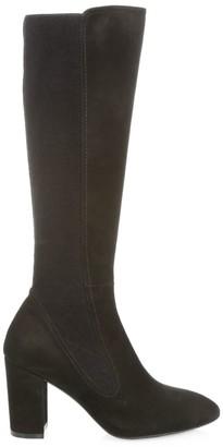 Stuart Weitzman Livia Faux-Suede Block-Heel Boots