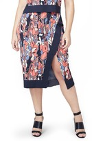 Rachel Roy Plus Size Women's Crossover Stretch Knit Skirt