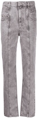 Etoile Isabel Marant High-Rise Straight Jeans