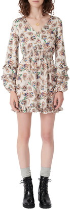 Maje Floral Long Sleeve Dress