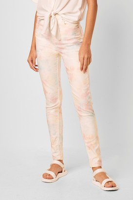 French Connection Sade Tie Dye Denim High Waist Skinny Jean