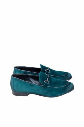 Portamento - Green Velvet Lea Loafers - 39 - Green