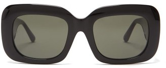 Linda Farrow Lavinia Square Acetate Sunglasses - Black