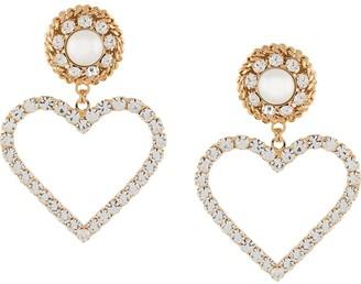 Alessandra Rich Oversized Heart Earrings