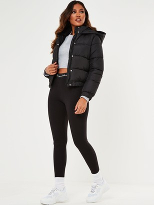 Missguided Hooded Padded Jacket - Black