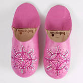 Bohemia Leather Sequin Babouche Slippers