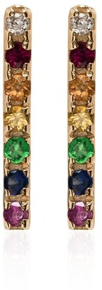 Mateo 14kt Gold Rainbow Sapphire Earrings