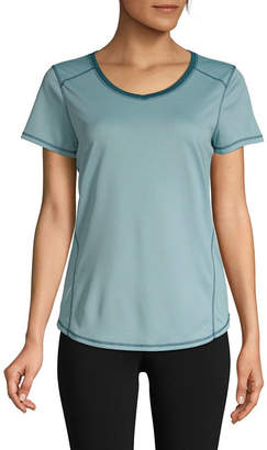 ST. JOHN'S BAY SJB ACTIVE Active Quick Dry-Womens V Neck Short Sleeve T-Shirt