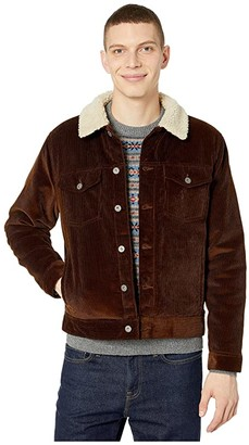 J.Crew Corduroy Jacket with Sherpa Collar and PrimaLoft(r) (Rustic Brown) Men's Clothing