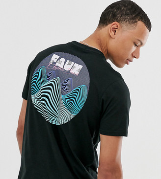 Friend or Faux Tall voltage wave back print t-shirt