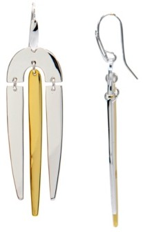 Robert Lee Morris Soho Two-Tone Chandelier Earrings