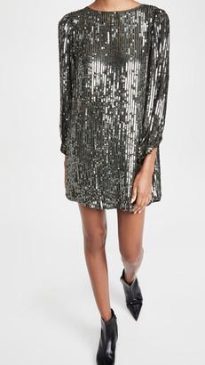 Velvet Sequin Shift Dress