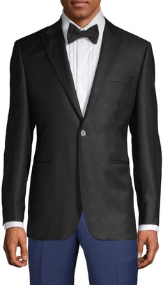 Saks Fifth Avenue Made In Italy Windowpane Wool Sportcoat