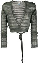 M Missoni geometric knit wrap top