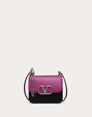 Valentino Small Vsling Multicolored Shiny Calfskin Shoulder Bag Women Radiant Orchid 100% Pelle Di Vitello - Bos Taurus OneSize