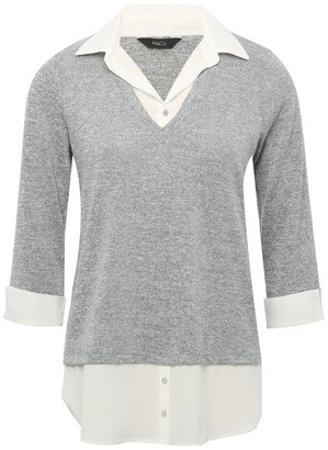 M&Co Two in one shirt jumper