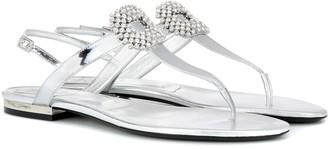 Roger Vivier Mini Diadem leather sandals