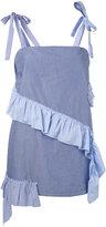 Semi-Couture Semicouture - striped ruffle top - women - Cotton - 38