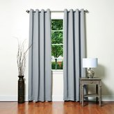 "Best Home Fashion Thermal Insulated Blackout Curtains - Antique Bronze Grommet Top - Grey - 52""W x 84""L - No tie backs (Set of 2 Panels)"