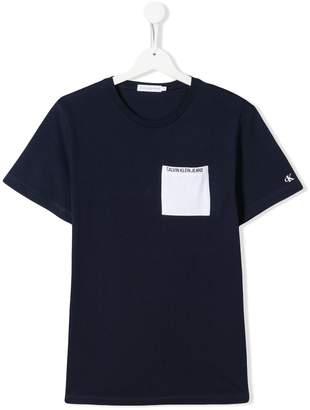 Calvin Klein Jeans TEEN logo patch T-shirt