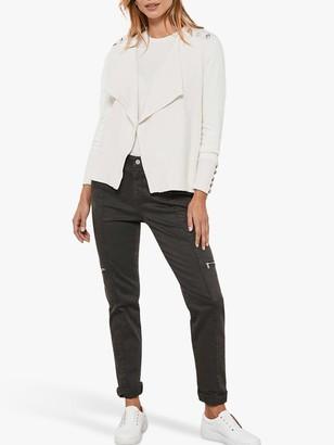Mint Velvet Houston Slim Cargo Jeans, Dark Green