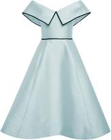 Elizabeth Kennedy Light Blue Off the Shoulder Cocktail Dress