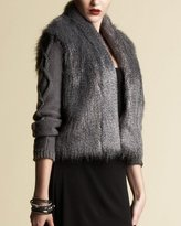 Faux Fur Sweater Jacket - bebe Addiction