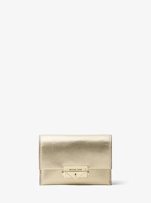 MICHAEL Michael Kors Cece Small Metallic Leather Wallet