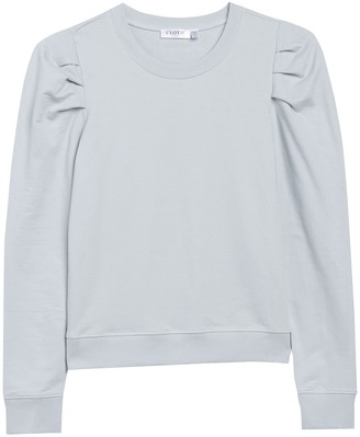 Cloth By Design Puff Long Sleeve Sweater