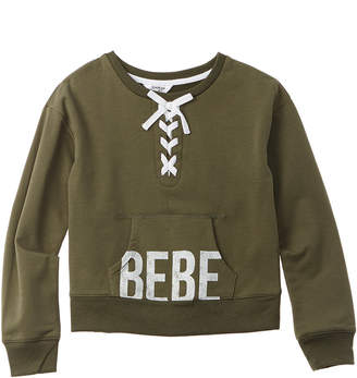 Bebe Lace-Up Pullover