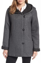 Gallery Women's Hooded Double Face Knit Coat