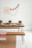 Wicked Hairpins Dining Set Reclaimed Oak Table And Matching Bench