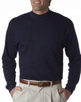 UltraClub Mock Turtleneck 8510 Mens Egyptian Interlock Long-Sleeve XL