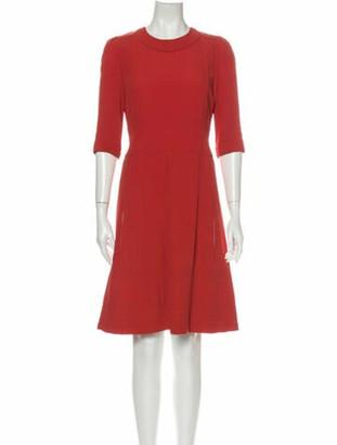 Chloé Crew Neck Knee-Length Dress Red