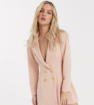 ASOS DESIGN Petite glam double breasted jersey blazer