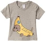 Huxbaby HUXBABY Banana Dog T-Shirt (Infant/Toddler) (Grey Marle) Kid's Clothing