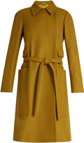 Rochas Oversized-pocket wool-blend coat