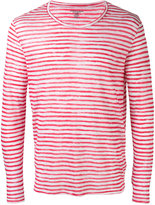 Majestic Filatures striped long sleeve T-shirt - men - Linen/Flax - S