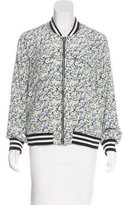 Equipment Silk Floral Print Jacket