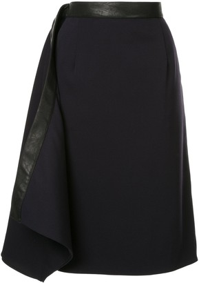Y/Project Leather Trim Skirt
