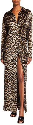 GAUGE81 Yokohama Leopard-Print Silk Wrap Dress