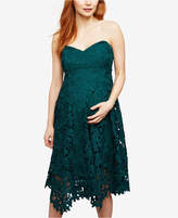 A Pea in the Pod Maternity Lace A-Line Dress