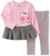 Kids Headquarters Pink Poodle Tunic & Geometric Leggings - Infant, Toddler & Girls