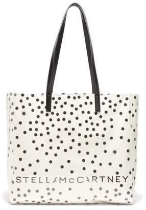 Stella McCartney Small Pvc & Polka-dot Paper Tote Bag - Womens - Ivory Multi