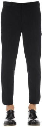 Neil Barrett Cotton Velvet Pants W/ Zip Cuffs