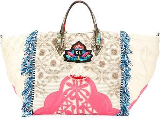 Christian Louboutin Portugaba Fabric Paris Tote Bag