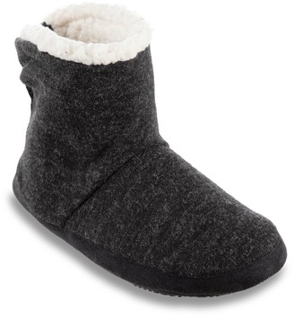 Isotoner Women's Marisol Microsuede Knit Boot Slippers