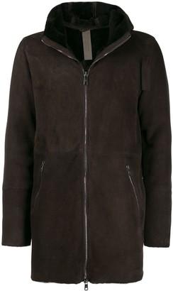 Giorgio Brato hooded front zip coat