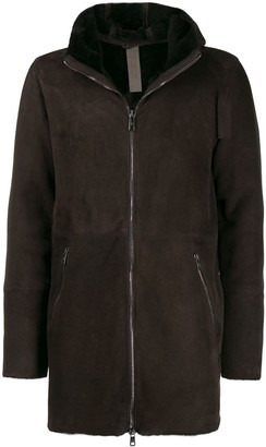 Giorgio Brato Hooded Front Zip Coat