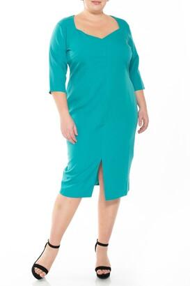 Alexia Admor Michelle Sweetheart 3/4 Sleeve Sheath Dress